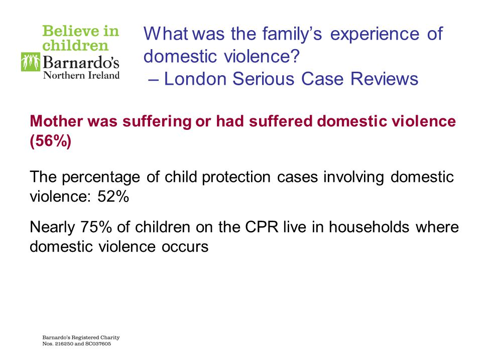 What was the family's experience of domestic violence