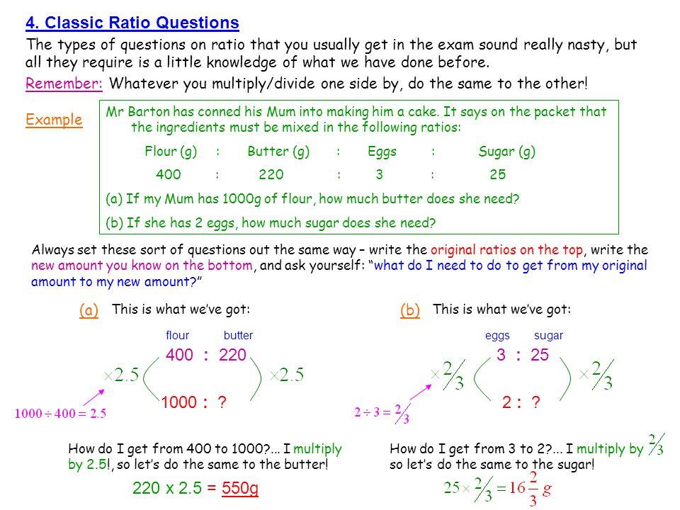 4. Classic Ratio Questions