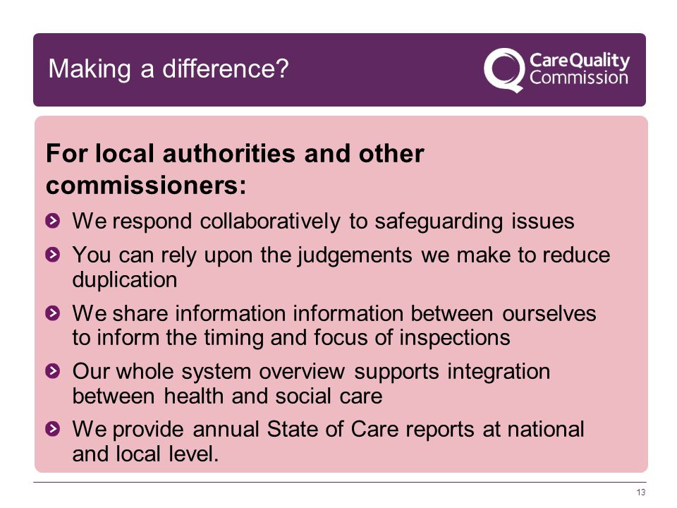 For local authorities and other commissioners: