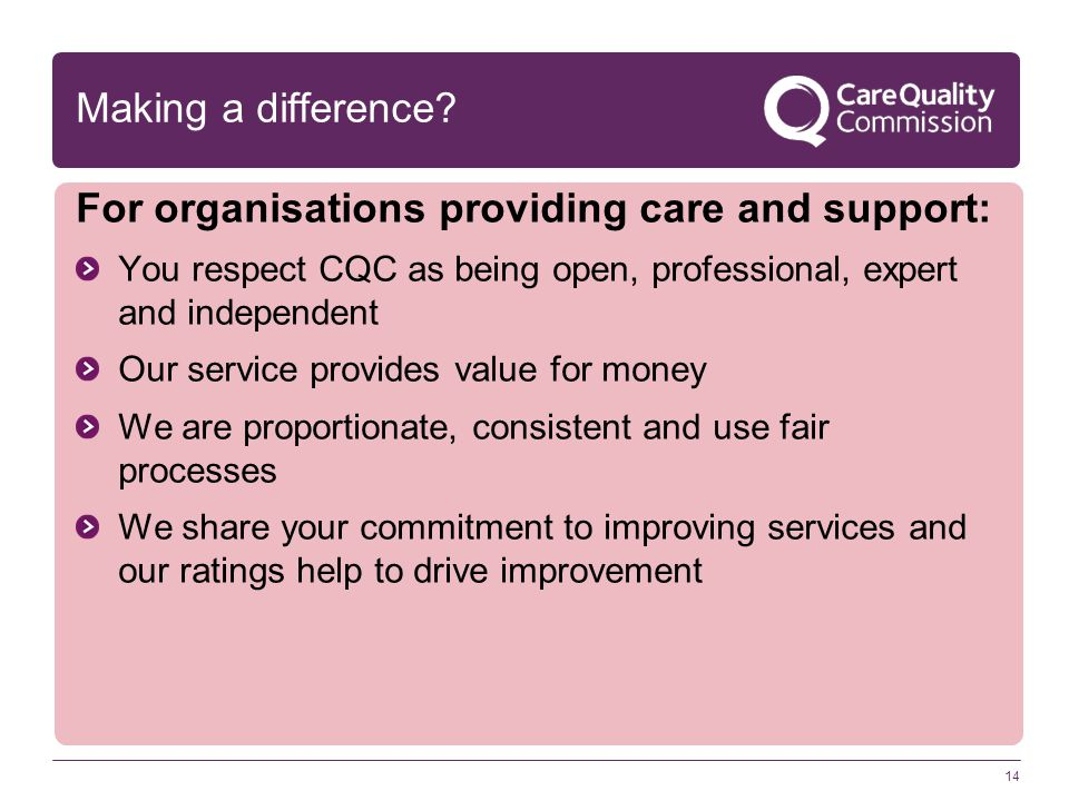 For organisations providing care and support: