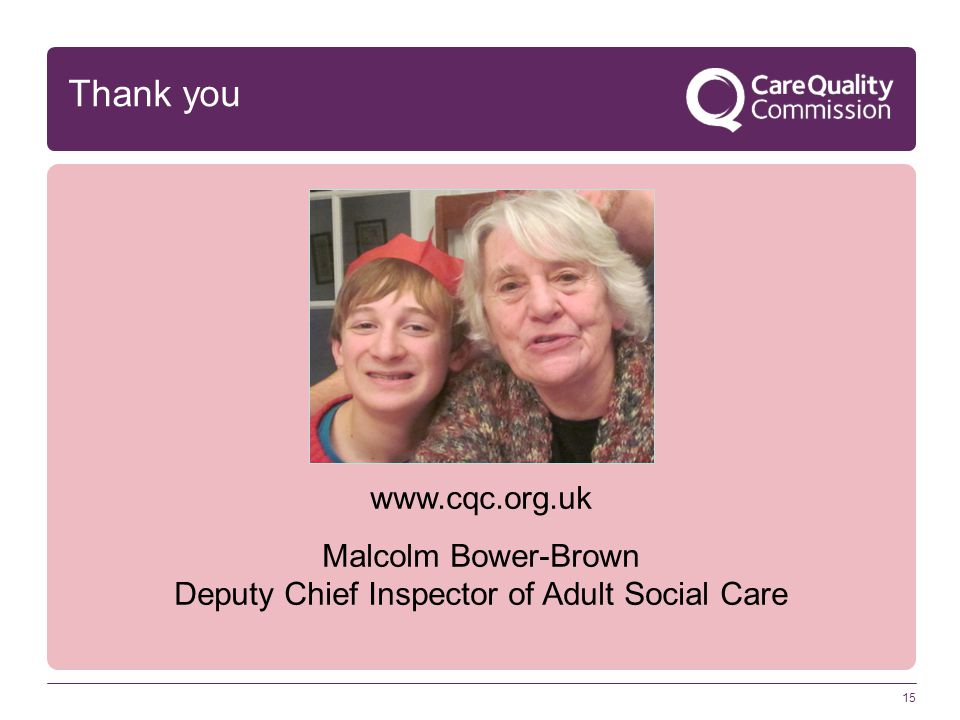 Deputy Chief Inspector of Adult Social Care