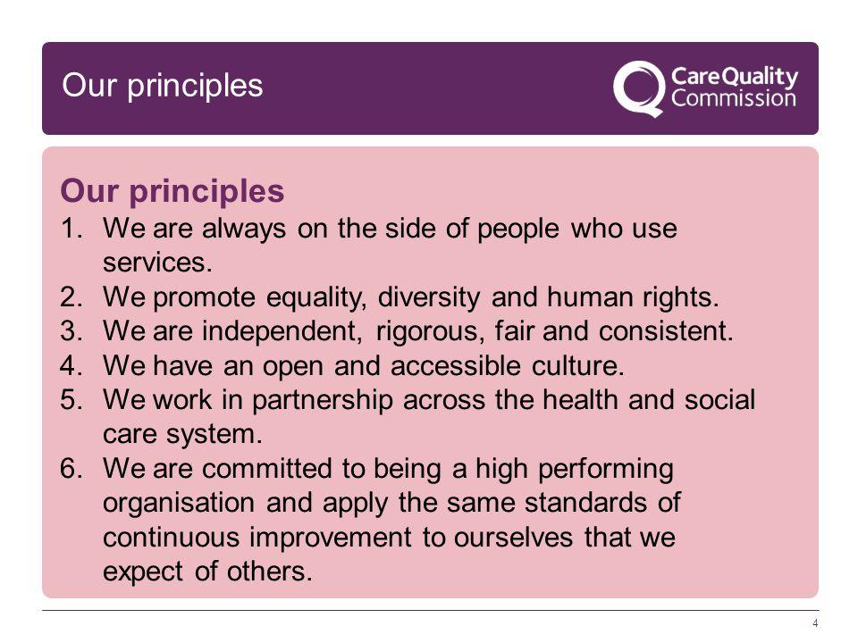 Our principles Our principles