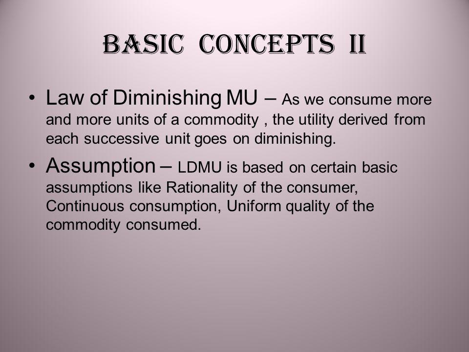 Basic concepts II