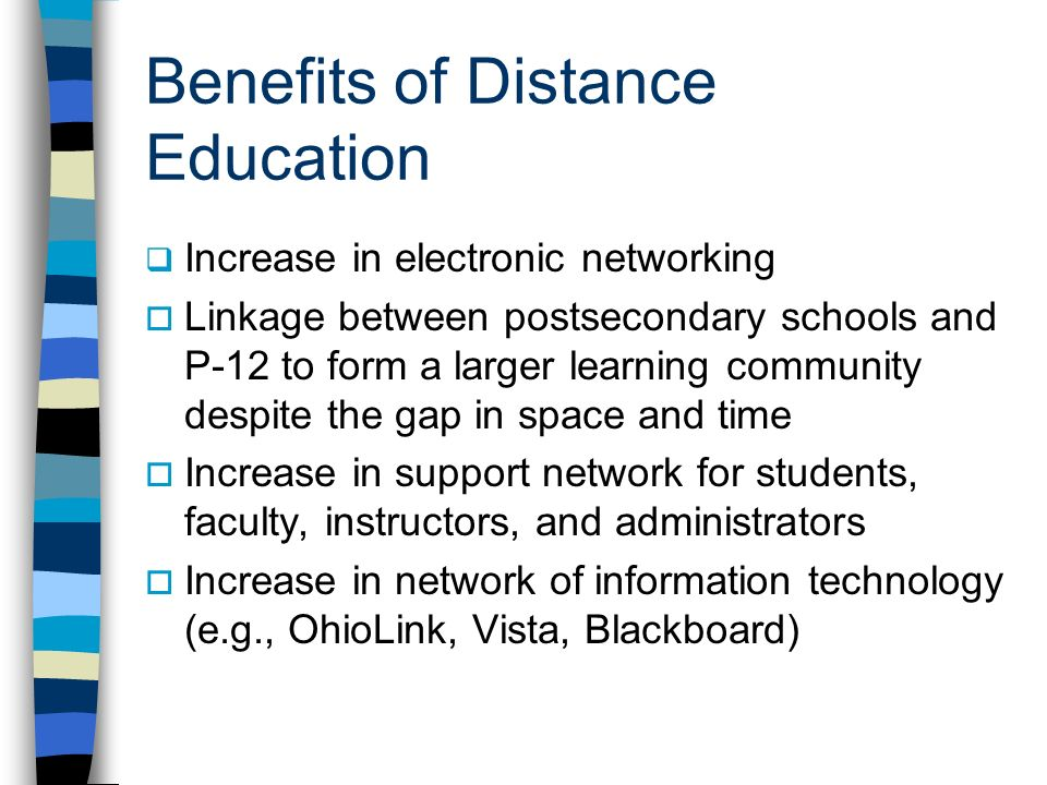 Benefits of Distance Education
