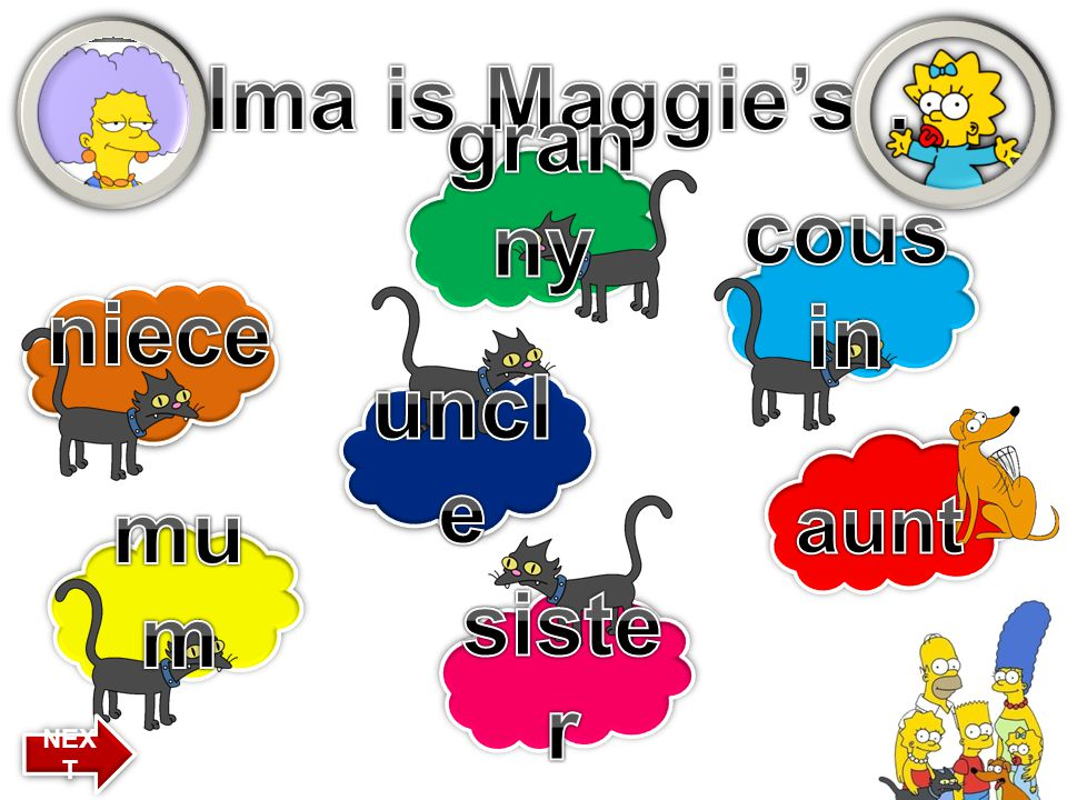 Selma is Maggie's … granny cousin niece uncle mum sister