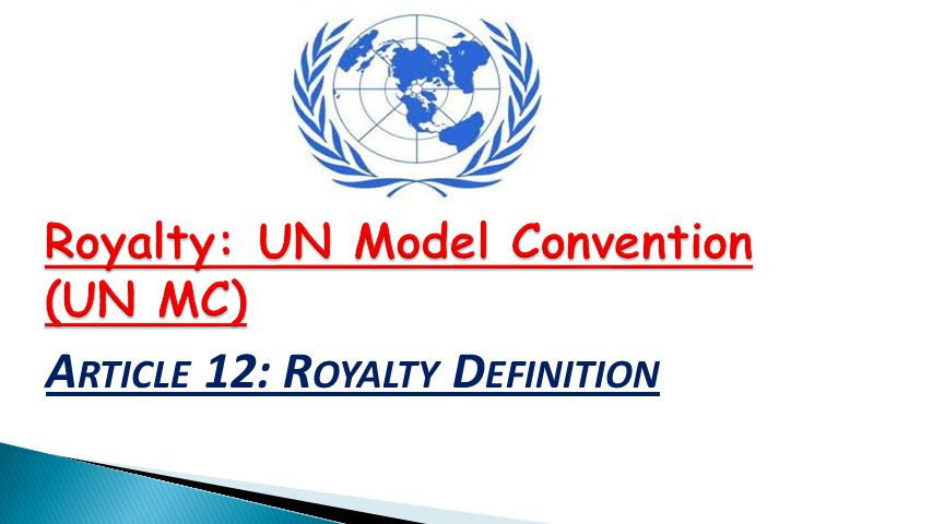 Article 12: Royalty Definition