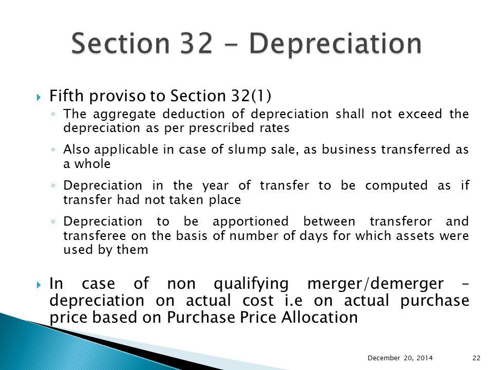 Section 32 - Depreciation