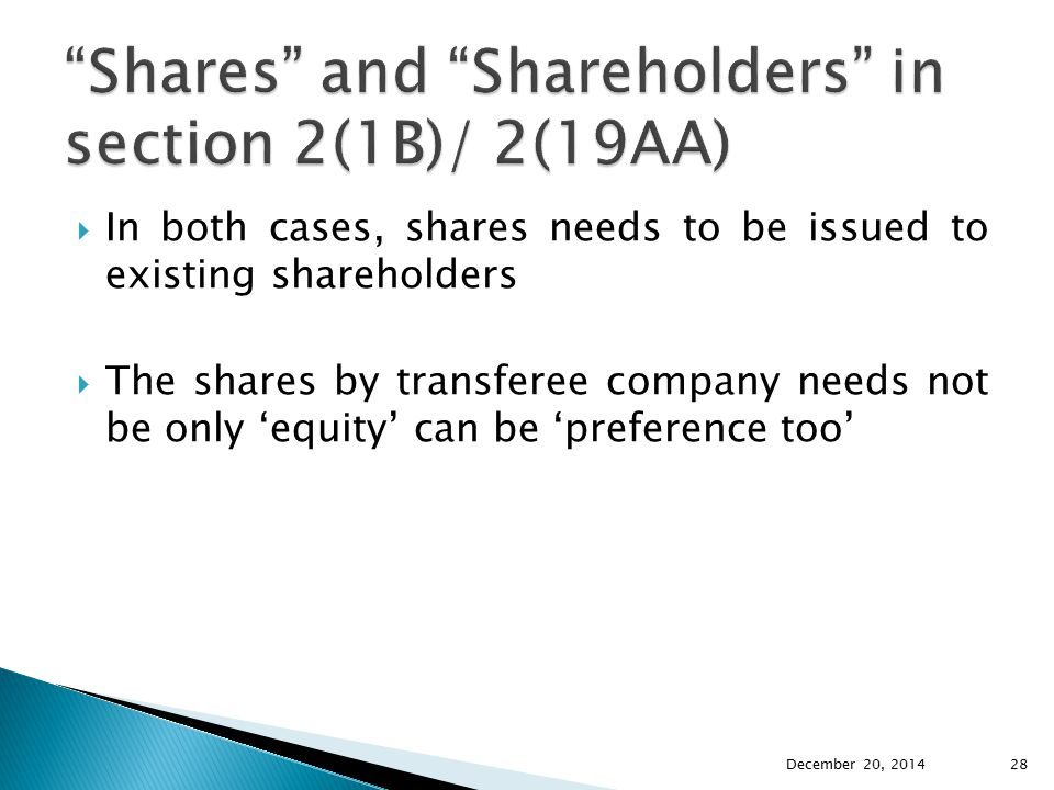 Shares and Shareholders in section 2(1B)/ 2(19AA)