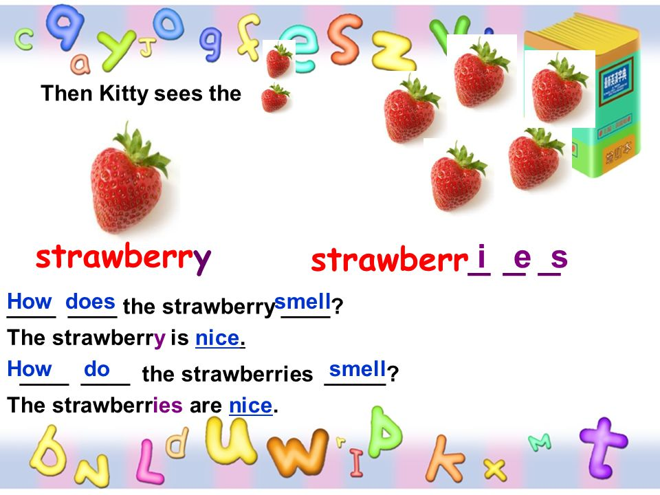 strawberry strawberr_ _ _ i e s Then Kitty sees the How does smell