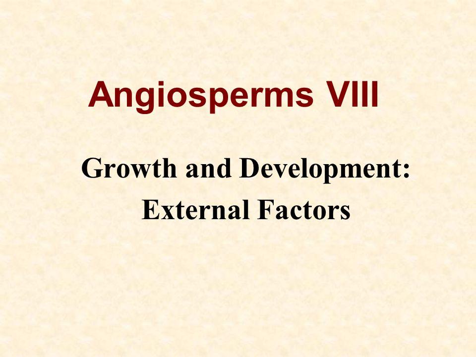 Growth and Development: External Factors