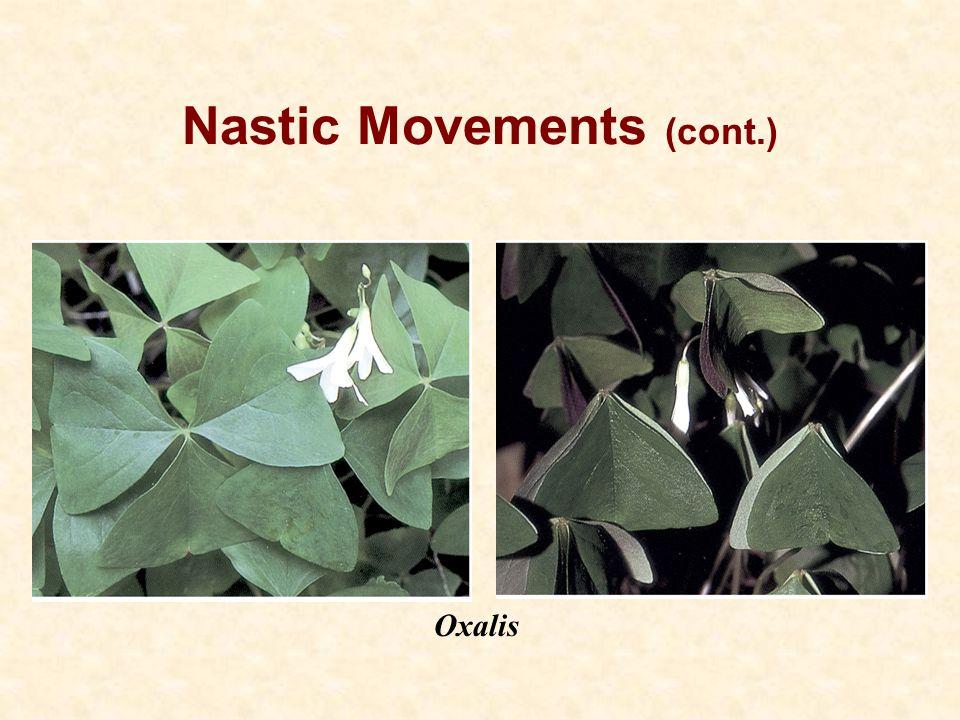 Nastic Movements (cont.)