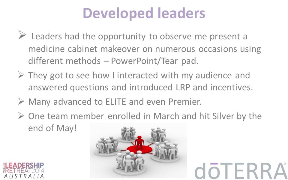 Developed leaders