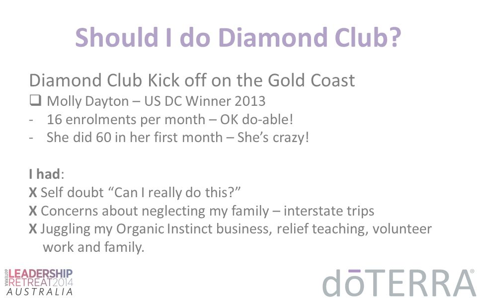 Should I do Diamond Club