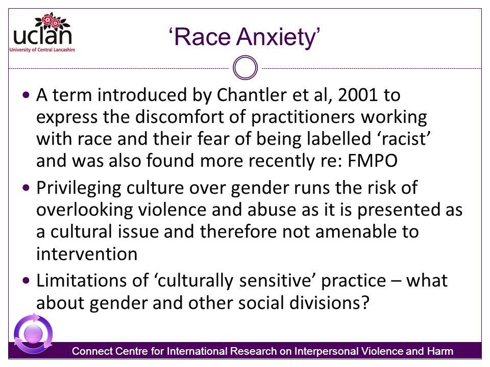 'Race Anxiety'