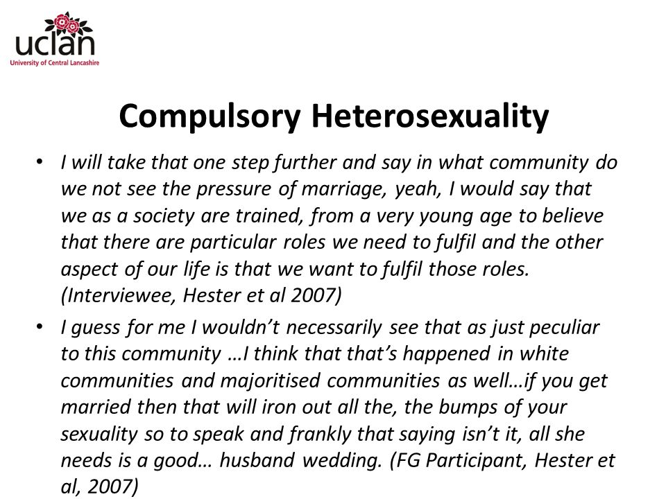 Compulsory Heterosexuality