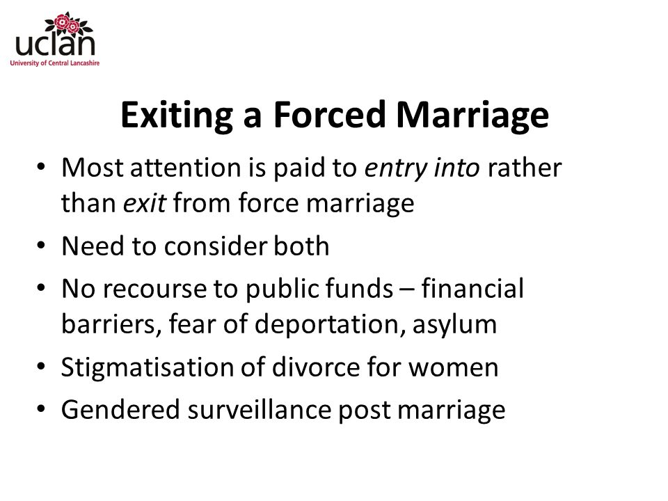 Exiting a Forced Marriage