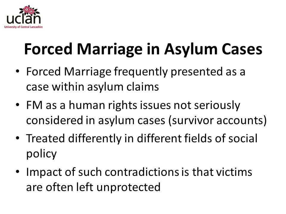 Forced Marriage in Asylum Cases