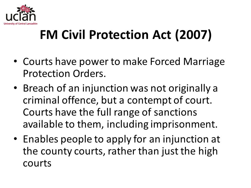 FM Civil Protection Act (2007)