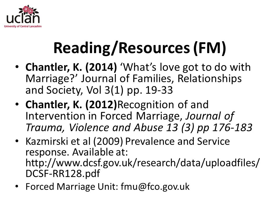 Reading/Resources (FM)