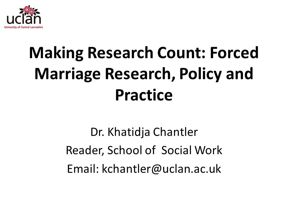 Making Research Count: Forced Marriage Research, Policy and Practice