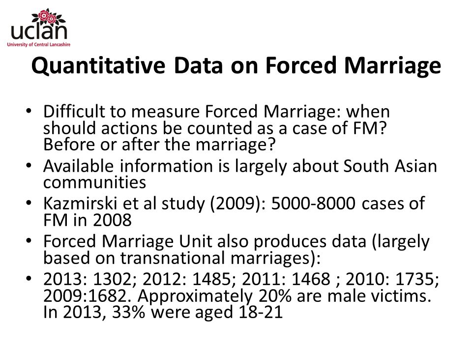Quantitative Data on Forced Marriage