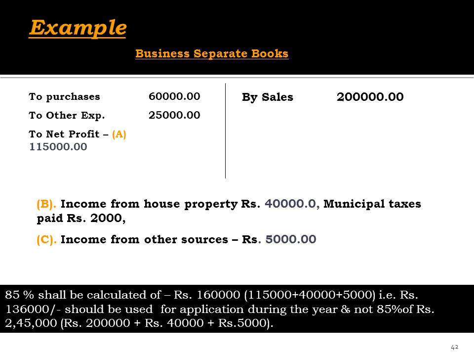 Example Business Separate Books By Sales 200000.00