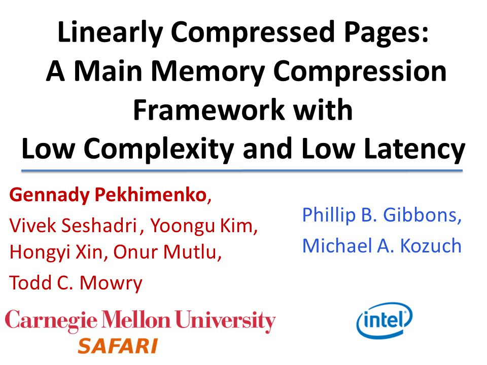Linearly Compressed Pages: A Main Memory Compression Framework with Low Complexity and Low Latency