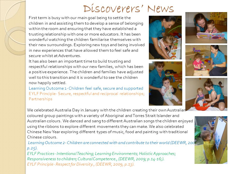 Discoverers' News