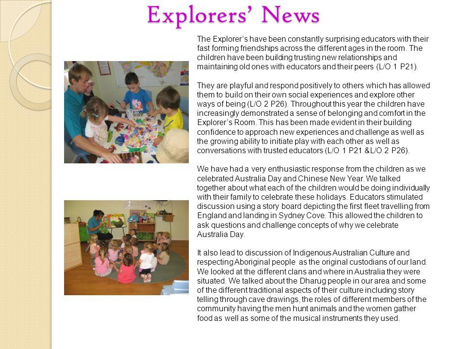 Explorers' News
