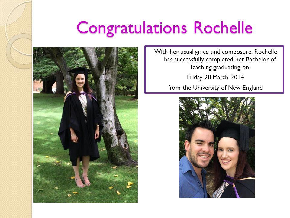 Congratulations Rochelle
