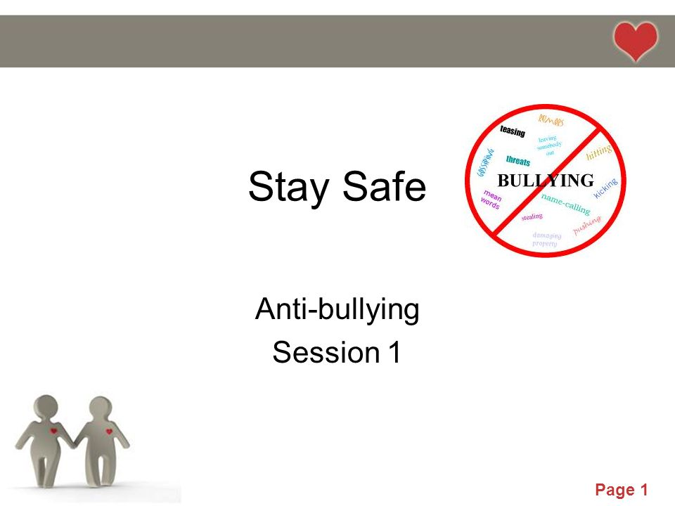 Anti-bullying Session 1