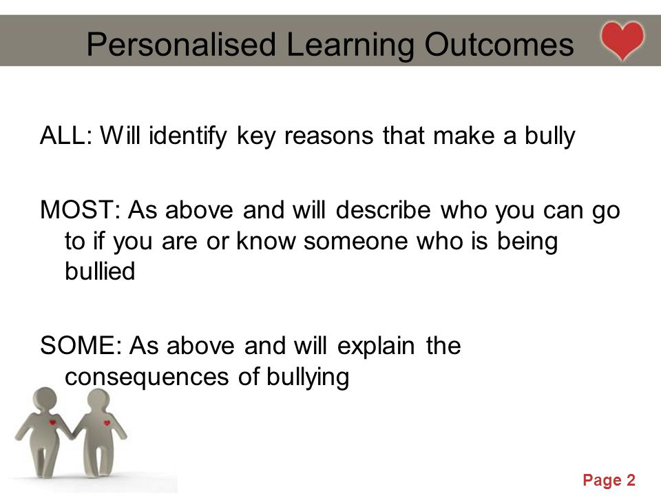 Personalised Learning Outcomes
