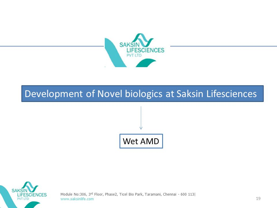Development of Novel biologics at Saksin Lifesciences