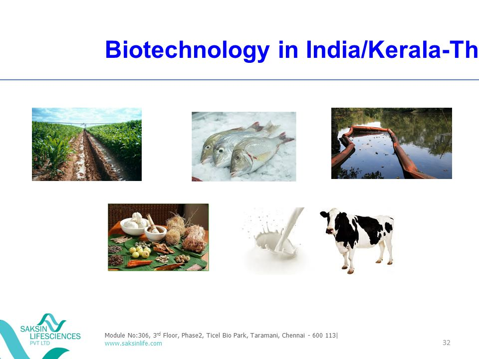 Biotechnology in India/Kerala-Thrust areas