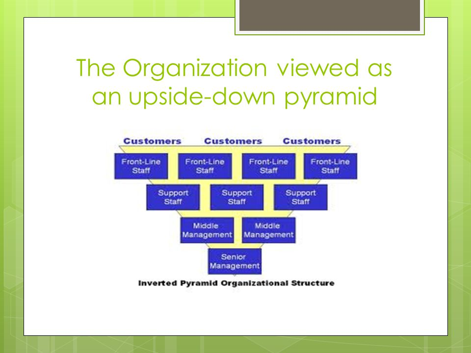The Organization viewed as an upside-down pyramid