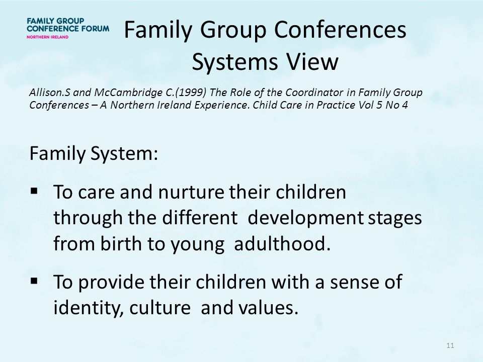 Family Group Conferences Systems View