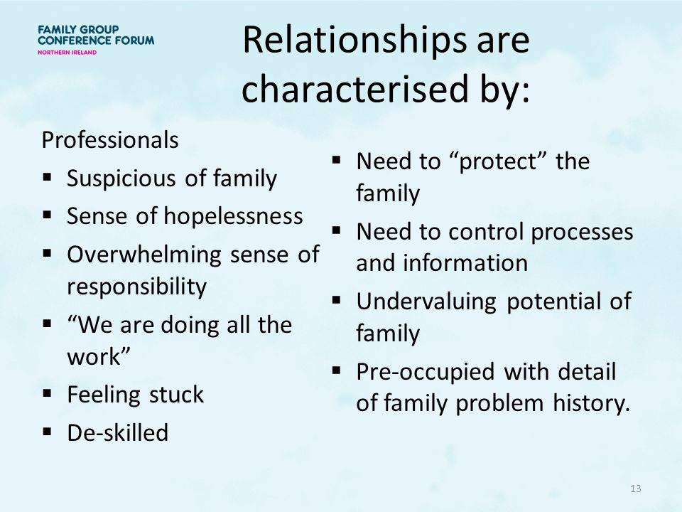 Relationships are characterised by: