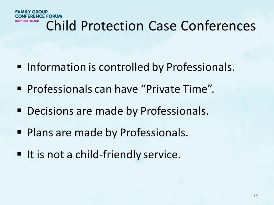 Child Protection Case Conferences