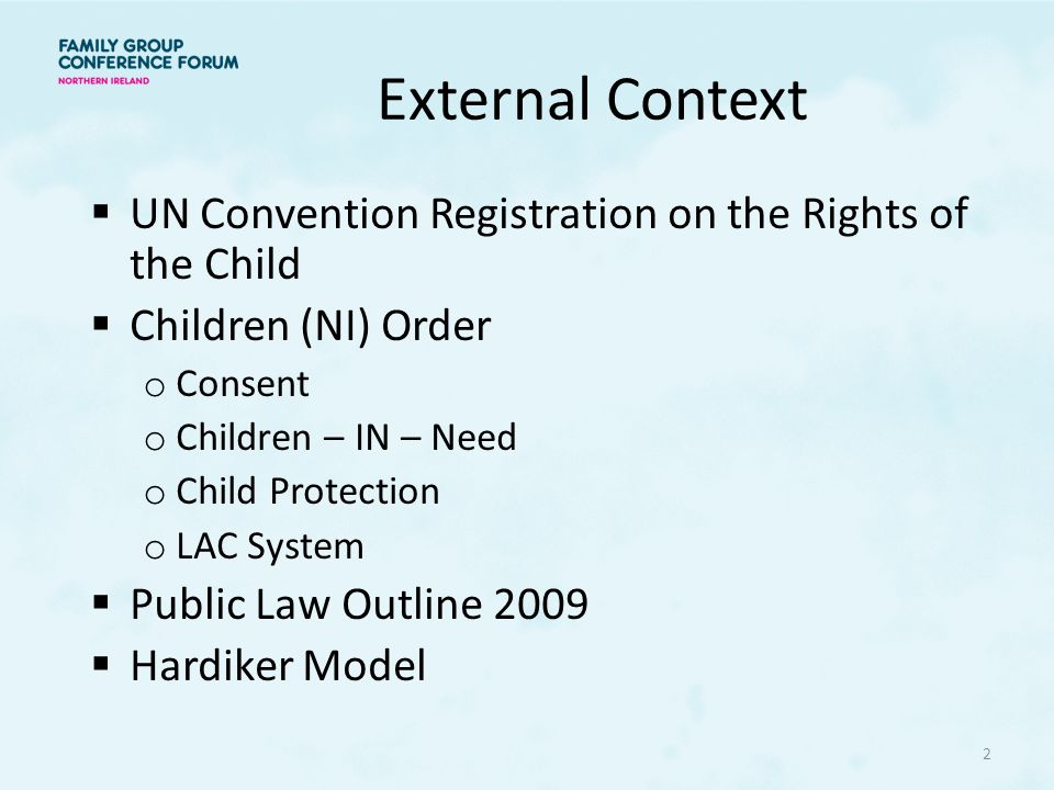 External Context UN Convention Registration on the Rights of the Child