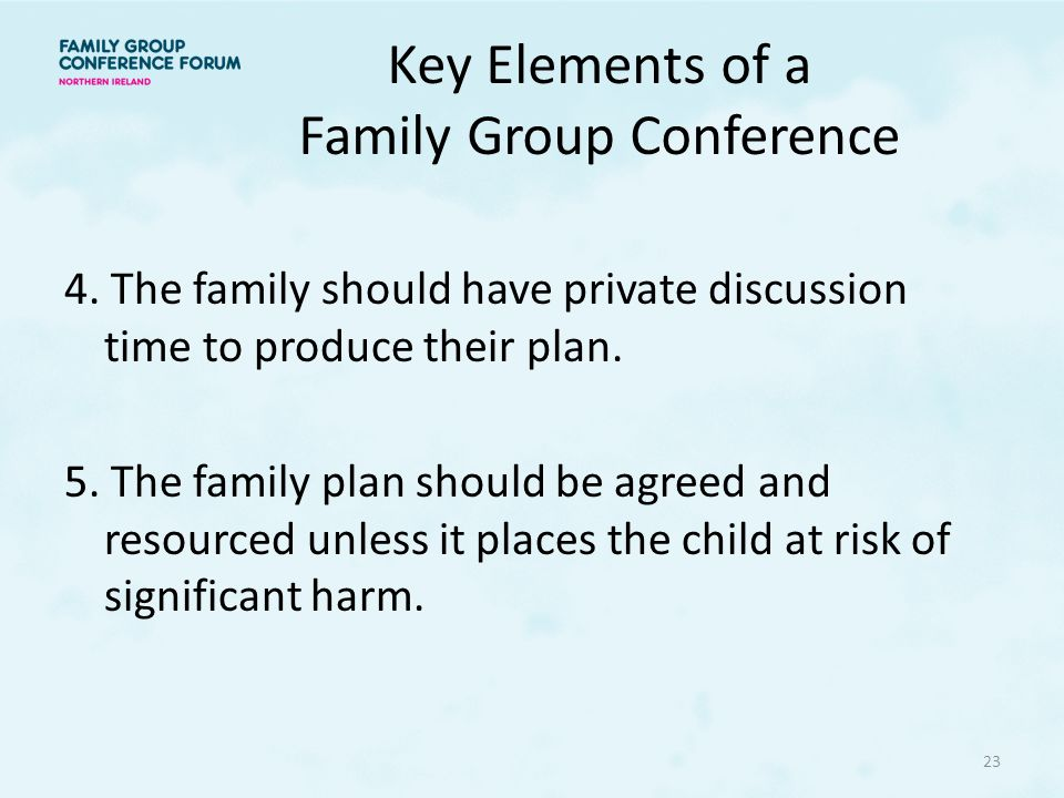 Key Elements of a Family Group Conference