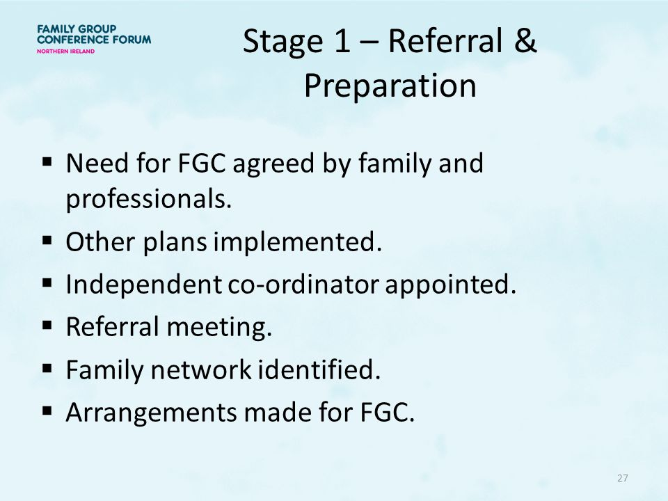 Stage 1 – Referral & Preparation