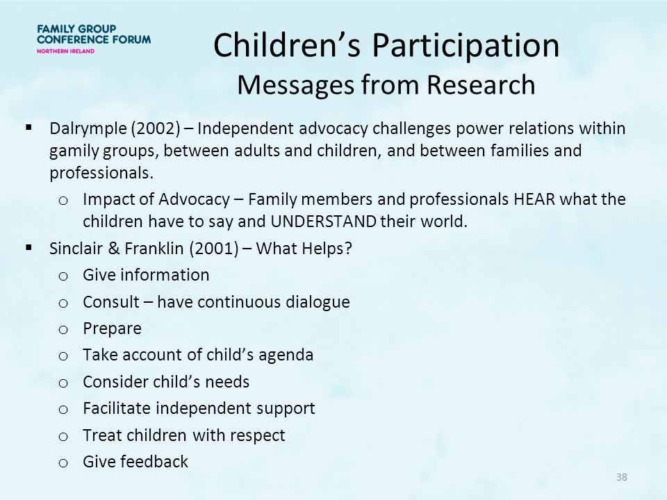 Children's Participation Messages from Research