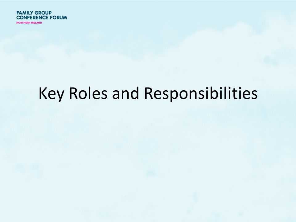 Understanding the family group conference process ppt - Back office roles and responsibilities ...