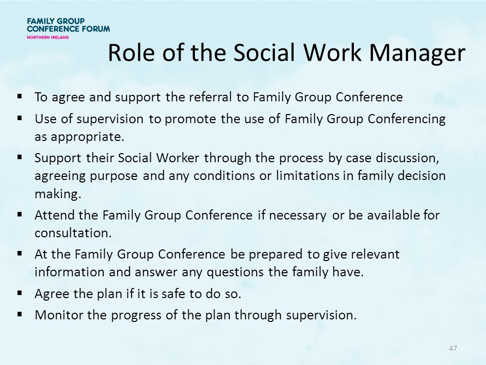 Role of the Social Work Manager