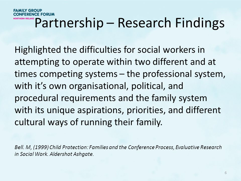 Partnership – Research Findings