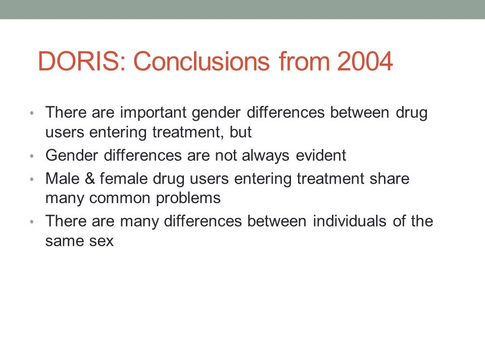 DORIS: Conclusions from 2004