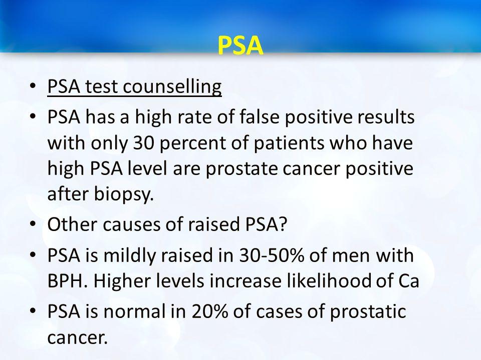 PSA PSA test counselling