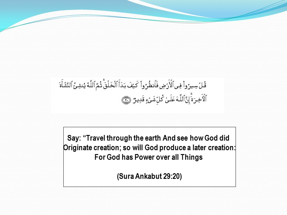 Say: Travel through the earth And see how God did