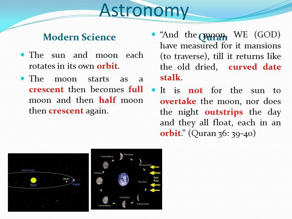 Astronomy Modern Science Quran