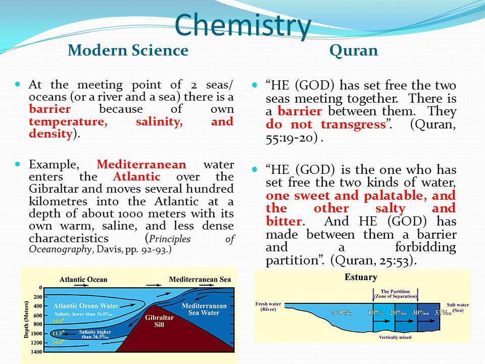 Chemistry Modern Science Quran